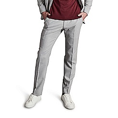 Ben Sherman - Cool grey crepe weave skinny fit trousers