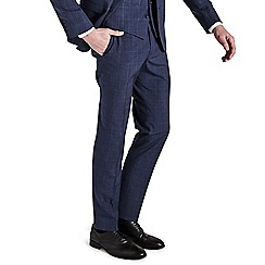 Ben Sherman - Ink blue check skinny fit trousers