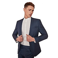 Ben Sherman - Sapphire blue check skinny fit jacket