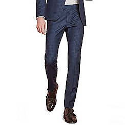 Ben Sherman - Sapphire blue check skinny fit trousers