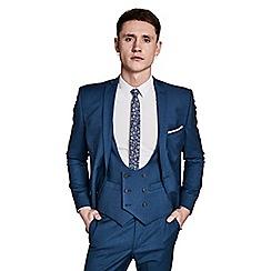 Ben Sherman - Bright blue texture skinny fit jacket