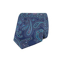 Stvdio by Jeff Banks - Blue textured paisley tie