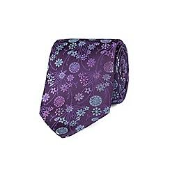 Stvdio by Jeff Banks - Purple tonal bouquet tie