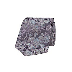 Stvdio by Jeff Banks - Grey graduated floral tie