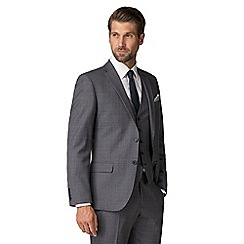 Racing Green - Airforce Textured Check Tailored Fit Suit Jacket