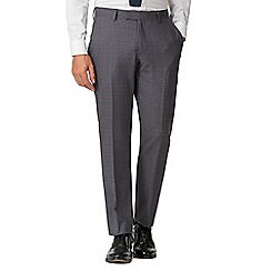 Racing Green - Airforce Textured Check Tailored Fit Suit Trousers
