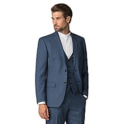 Racing Green - Bright blue texture tailored jacket