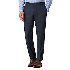 Racing Green - Navy boucle tailored trousers