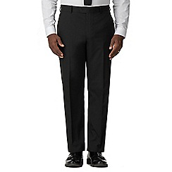 Racing Green - Black regular fit trousers