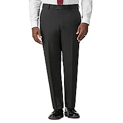Racing Green - Charcoal regular fit trousers