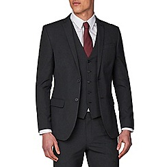 Racing Green - Charcoal Plain Slim Fit Jacket