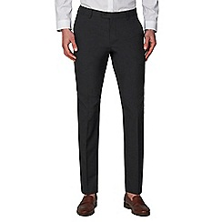 Racing Green - Charcoal Plain Slim Fit Trousers