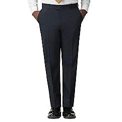 Racing Green - Navy Regular Fit Trousers
