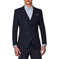Racing Green - Navy Plain Slim Fit Jacket