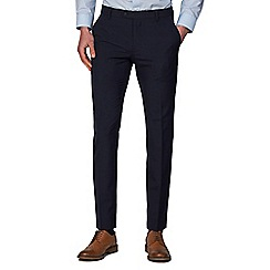 Racing Green - Navy Plain Slim Fit Trousers