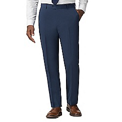 Racing Green - Bright blue regular fit trousers
