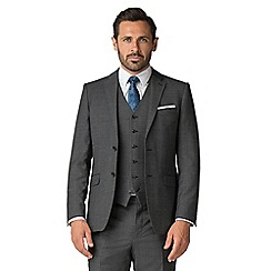 Stvdio by Jeff Banks - Grey texture performance wool blend 2 button tailored fit suit jacket