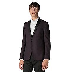 Ben Sherman - Burgundy check skinny jacket