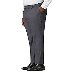 The Collection - Charcoal birdseye big and tall suit trousers