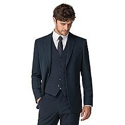 The Collection - Deep blue birdseye regular fit jacket