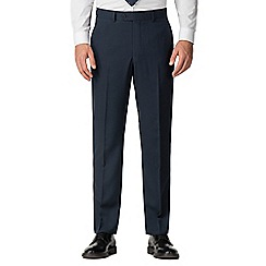 The Collection - Deep blue birdseye regular suit trousers