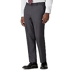 The Collection - Charcoal pick and pick regular trousers