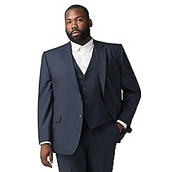 The Collection - Deep blue textured big and tall suit jacket