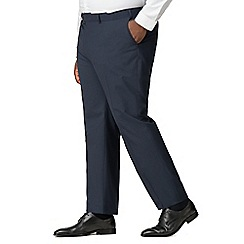 The Collection - Deep blue textured big and tall suit trousers