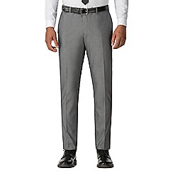 Red Herring - Light grey tonic with tipping slim fit suit trousers