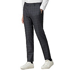 Red Herring - Navy rust overcheck skinny fit suit trousers