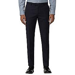 Ben Sherman - Navy mini check skinny trousers