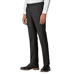 Ben Sherman - Charcoal burgundy check skinny trousers