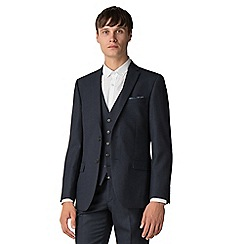 Ben Sherman - Navy texture weave tailored fit jacket