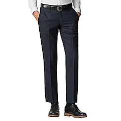 Ben Sherman - Navy texture weave tailored fit trousers