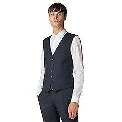 Ben Sherman - Navy texture weave waistcoat