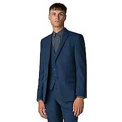 Ben Sherman - Bright blue texture weave tailored fit jacket