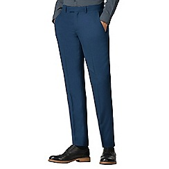 Ben Sherman - Bright blue texture weave tailored fit trousers