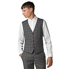 Ben Sherman - Grey tan overcheck waistcoat