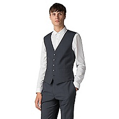 Ben Sherman - Deep teal micro check athletic fit waistcoat