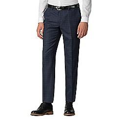 Ben Sherman - Deep blue check slim fit trousers
