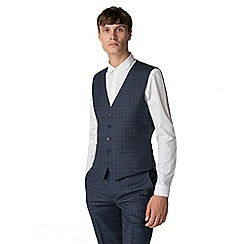 Ben Sherman - Deep blue check waistcoat