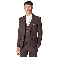 Ben Sherman - Merlot flannel slim fit jacket