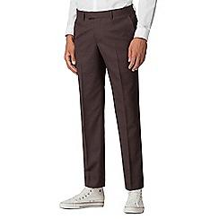 Ben Sherman - Merlot flannel slim fit trousers