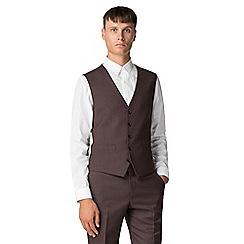 Ben Sherman - Merlot flannel waistcoat