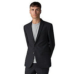 Ben Sherman - Navy rust overcheck slim fit jacket