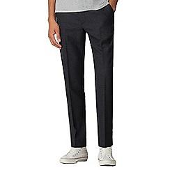 Ben Sherman - Navy rust overcheck slim fit trousers