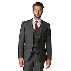 Racing Green - Grey flannel puppytooth tailored suit