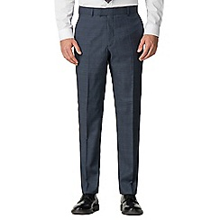 Hammond & Co. by Patrick Grant - Blue Tonal Check Tailored trousers