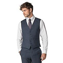 Hammond & Co. by Patrick Grant - Blue tonal check waistcoat