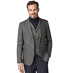 Jeff Banks - Grey donegal mixed tailoring wool blend tailored fit jacket
